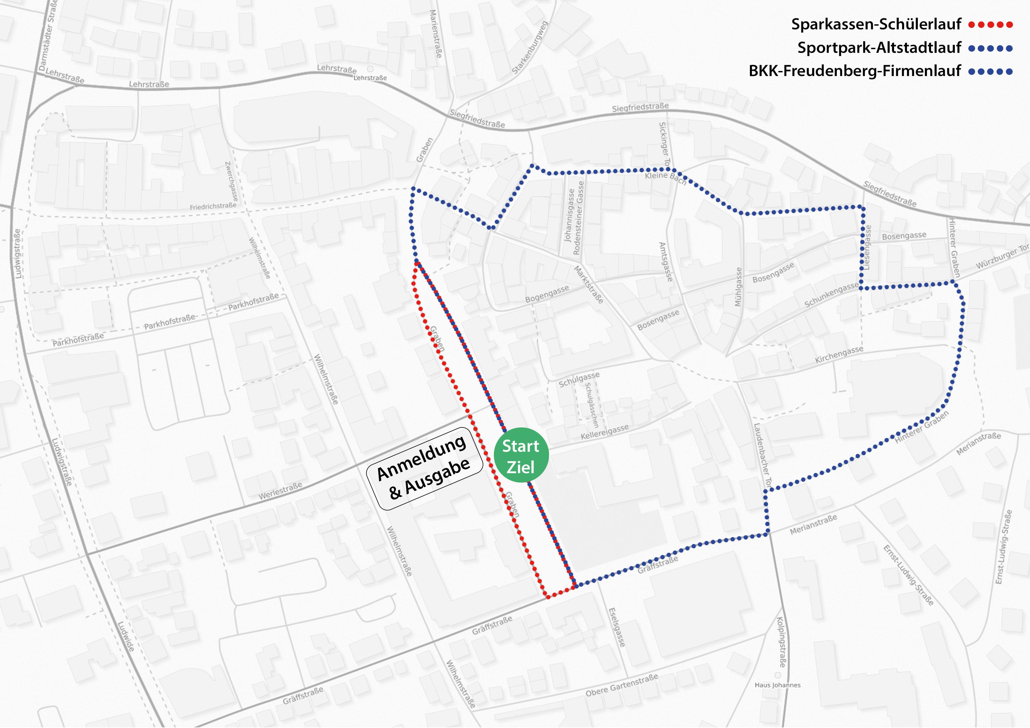 Streckenplan Altstadtlauf Heppenheim